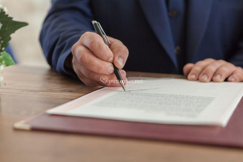 Signature mairie