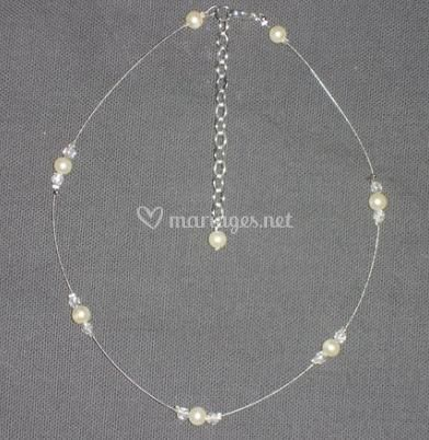 Collier perles simple