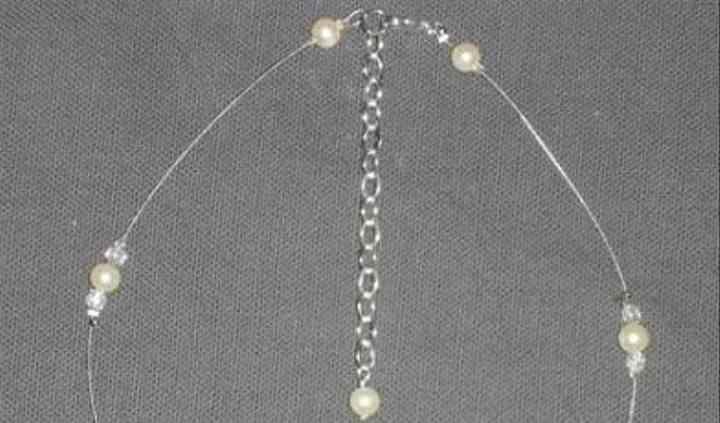 Collier perles simple