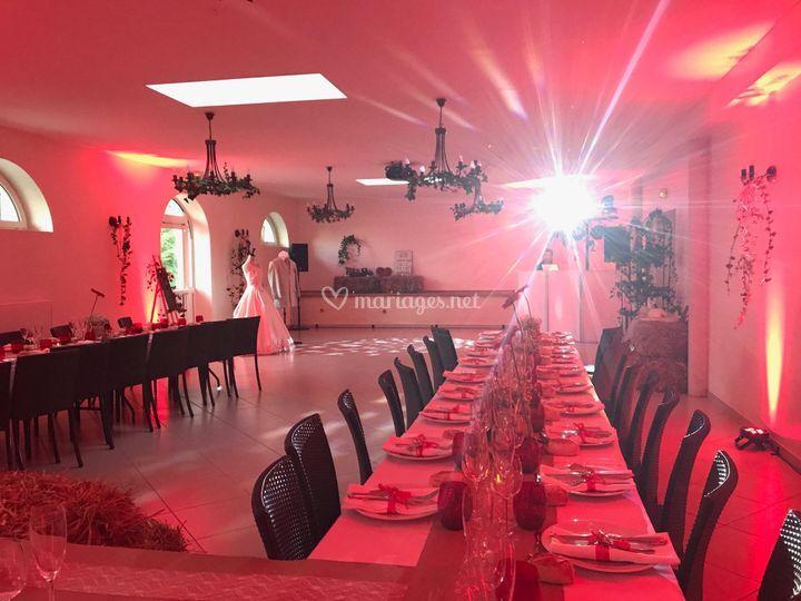 Installation en banquet