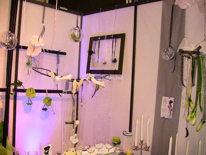 Decoration stand salon mariage