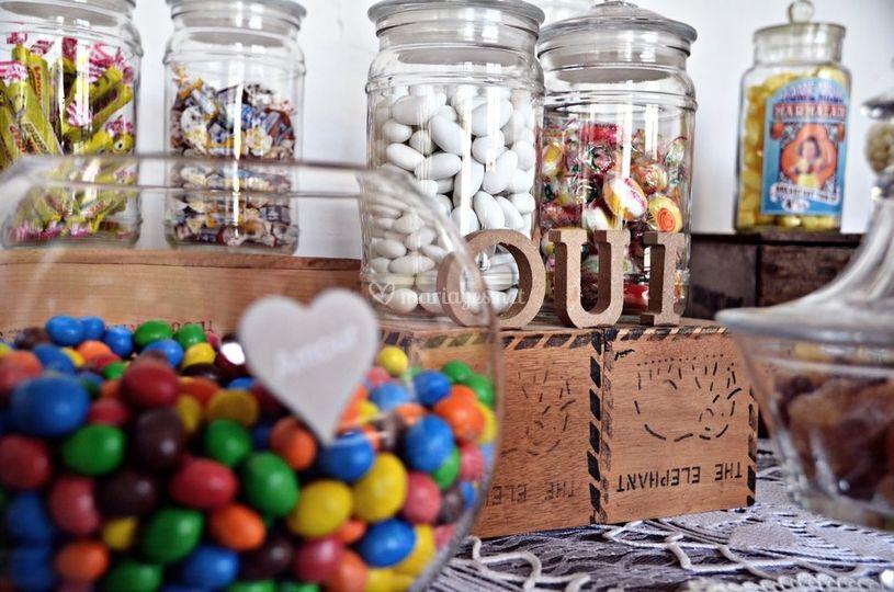 Bar à bonbons vintage