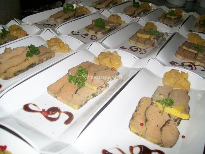 Restaurant traiteur le millesime for Chutney de pommes pour foie gras