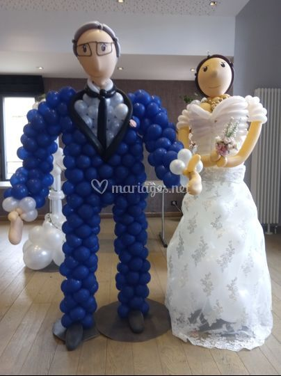 Caricature des mariés