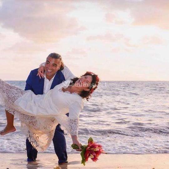 Mariée heureuse
