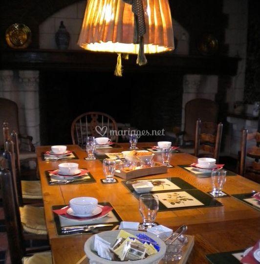 La table des convives
