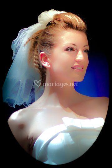 La mariée en portrait sérré