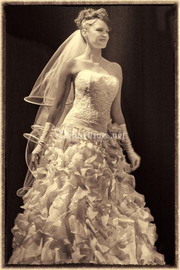 La mariée en ton sépia