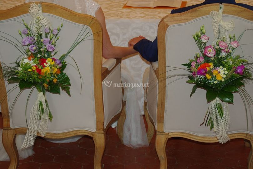 Bouquets Chaises Mariès