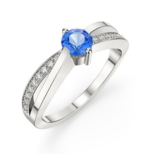 Bague Diamant Saphir Abysse
