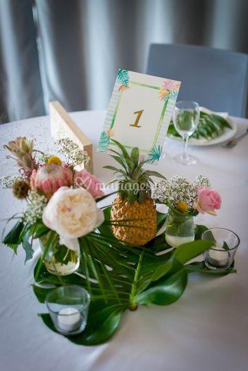 Décoration table Tropical