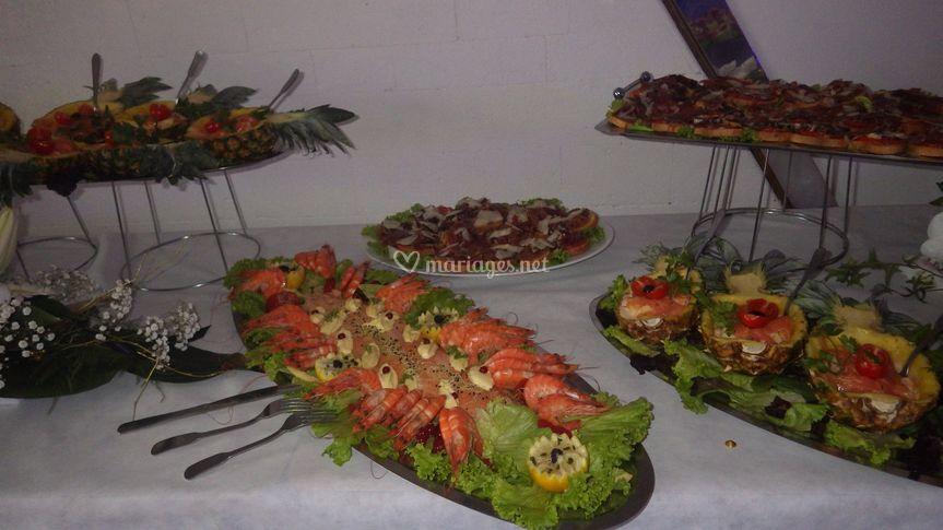 Un buffet d'entrées