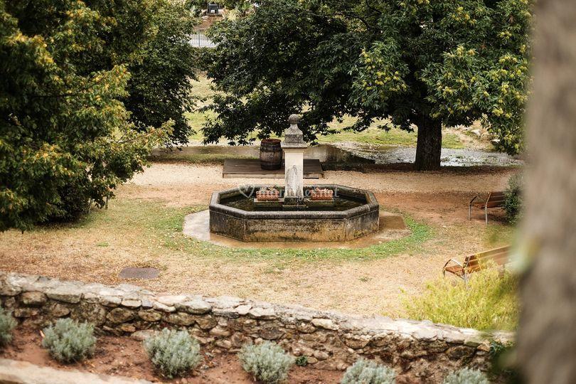Fontaine en extérieur