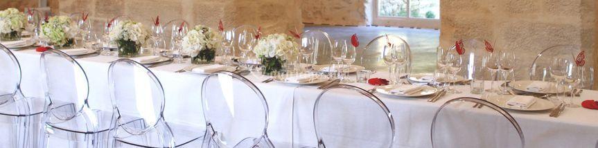 Mise de table grande salle