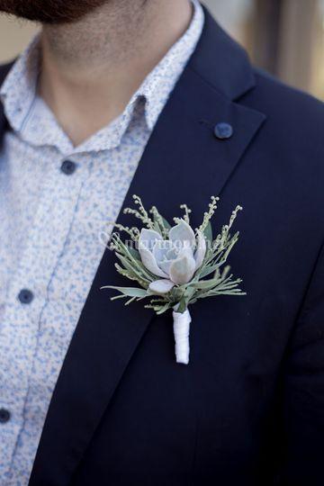 Boutonnière succulente