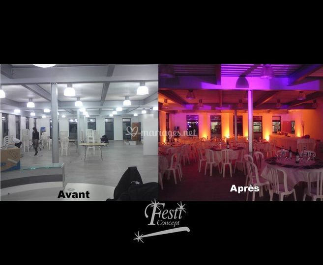 Transformation d'une salle