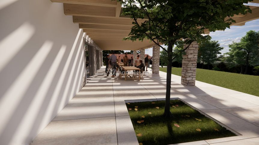 Terrasse ombragée de 130 m²