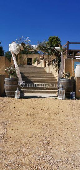 Escaliers des terrasses
