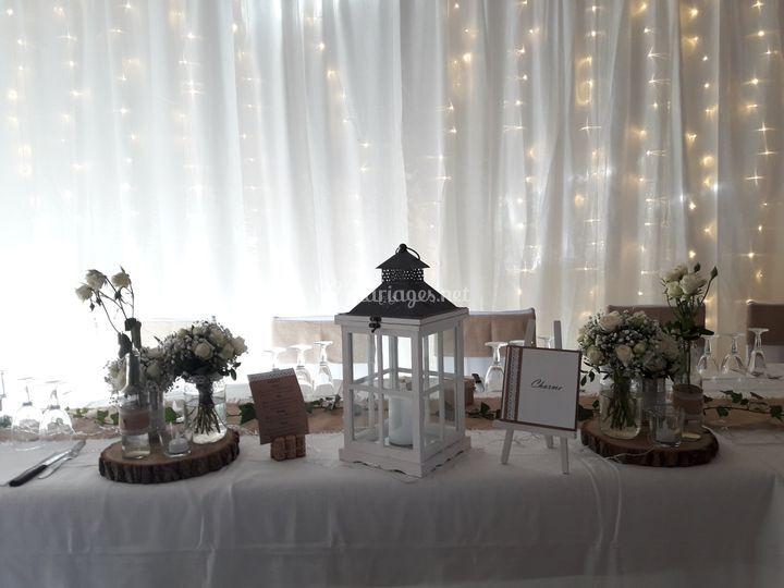 Décoration table d'honneur