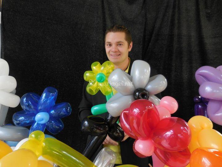 Sculpture de ballons cocktail