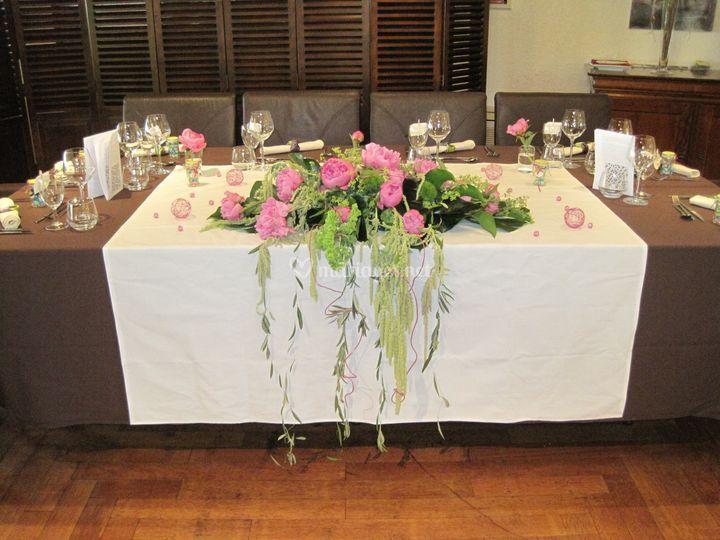 Table d'honneur fleurie