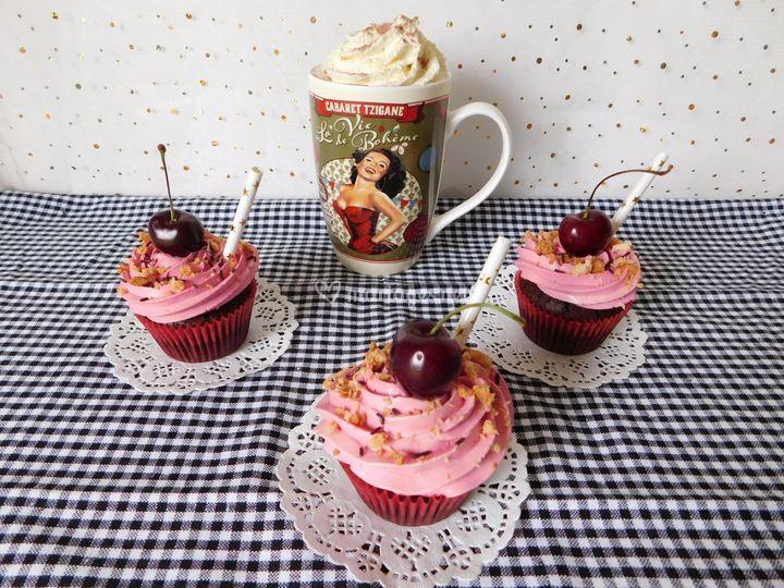 Cupcakes cerise
