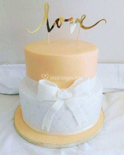 Wedding cake blanc et beige