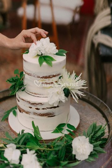 Naked cake Printemps