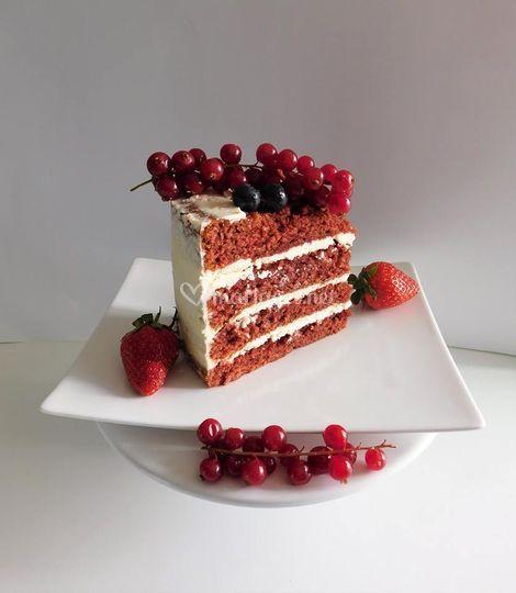 Naked cake : red velvet
