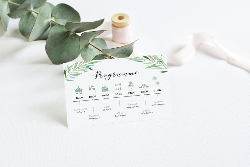 Programme mariage Eucalyptus