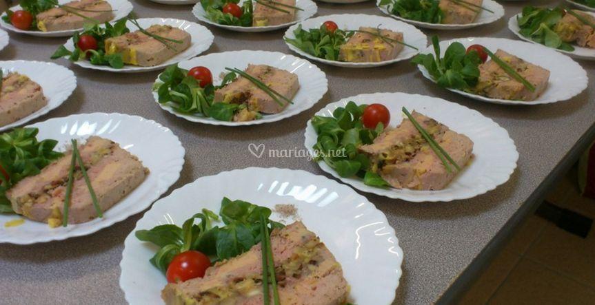 Terrines de canard et foie gras