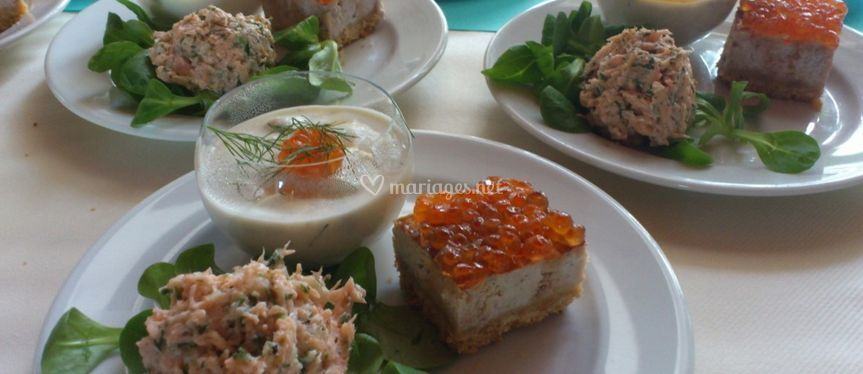 Trios de saumons