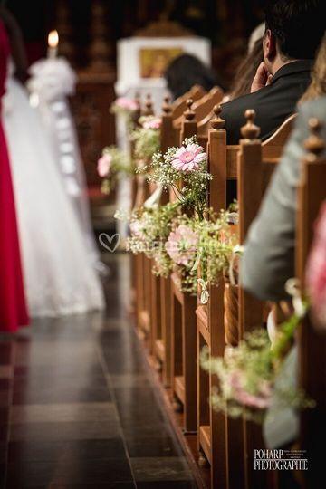 Décoration florale église