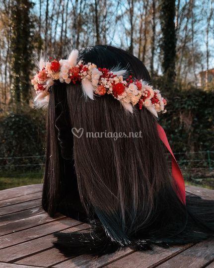 Couronne florale médium taille