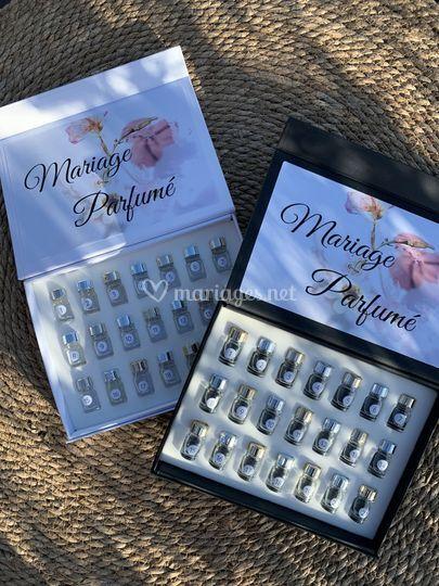 Box proposant les 21 parfums