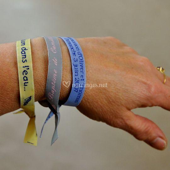 Bracelets d'invités