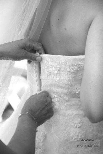 Fermeture de la robe
