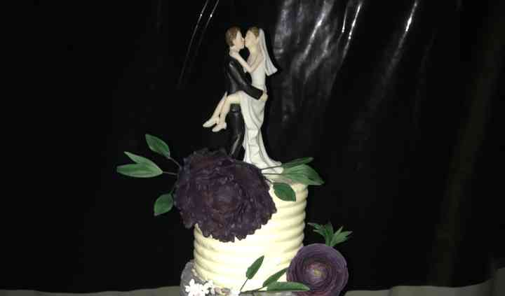 Wedding cake dégradé de violet