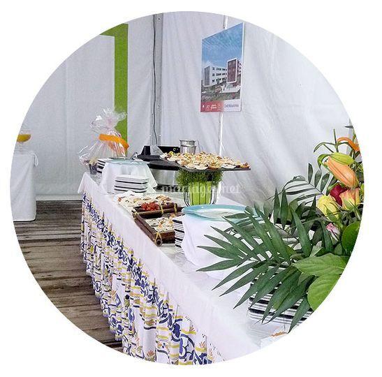 Des buffets décorés