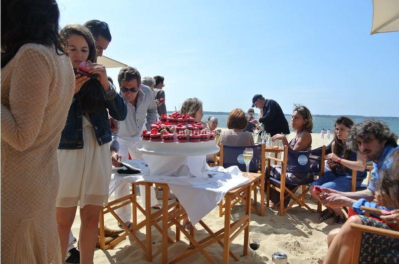 Dessert sur la plage