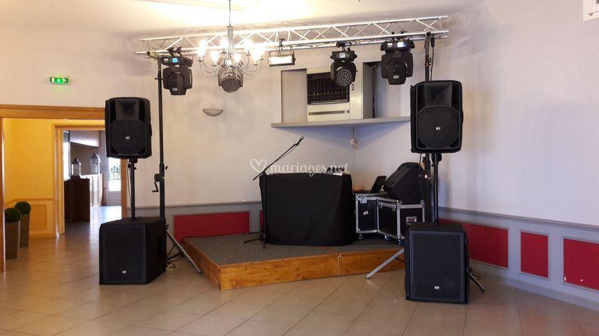 Sonorisation et éclairages dj