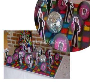Plan de table - thème disco