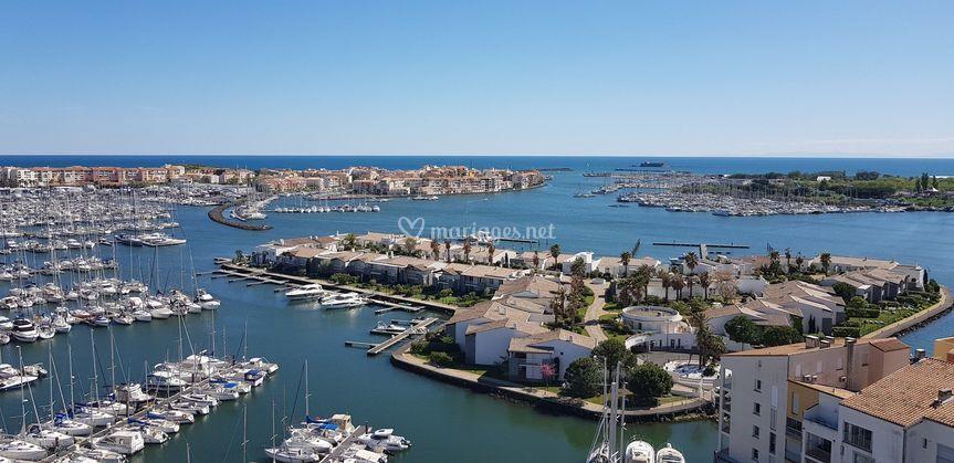 Vue sur le  port du Cap D'Agde