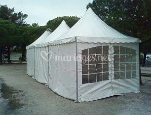 Tente silhouette 3mx3m