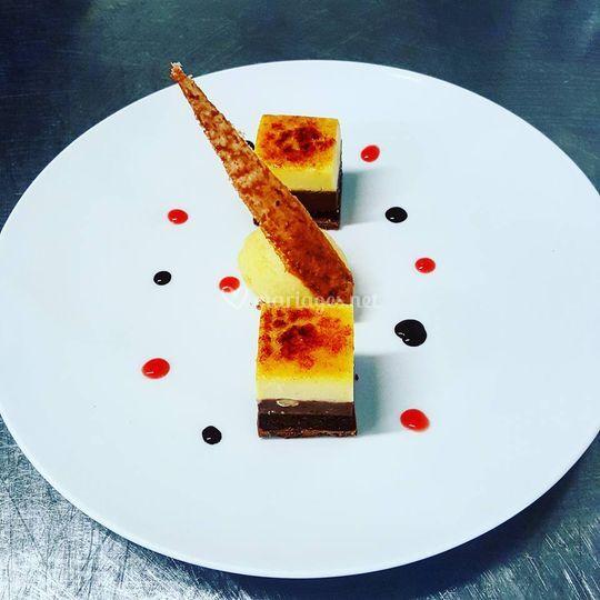 Entremet chocolat passion