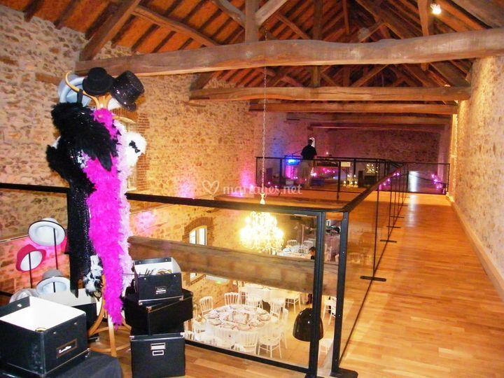 Photoboot et DJ sur mezzanine