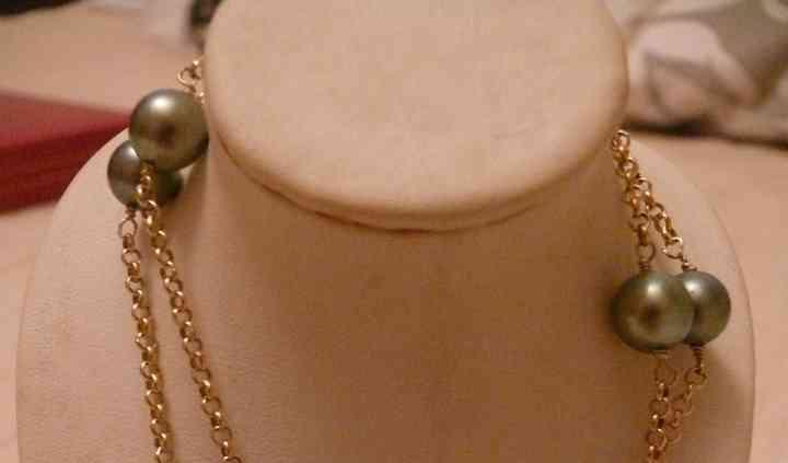Collier chaîle et perles