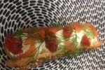 Eclair saumon fumé basilic