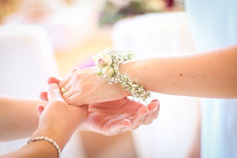 Bracelet floral sur Fleurs St-Mathieu