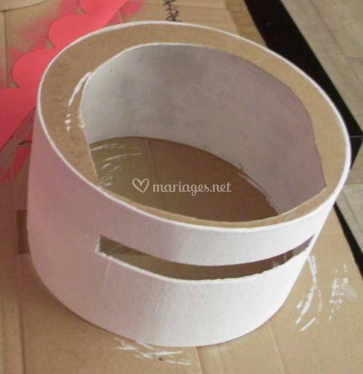 Diy pour r aliser une urne en forme de wedding cake - Urne anniversaire a faire soi meme ...